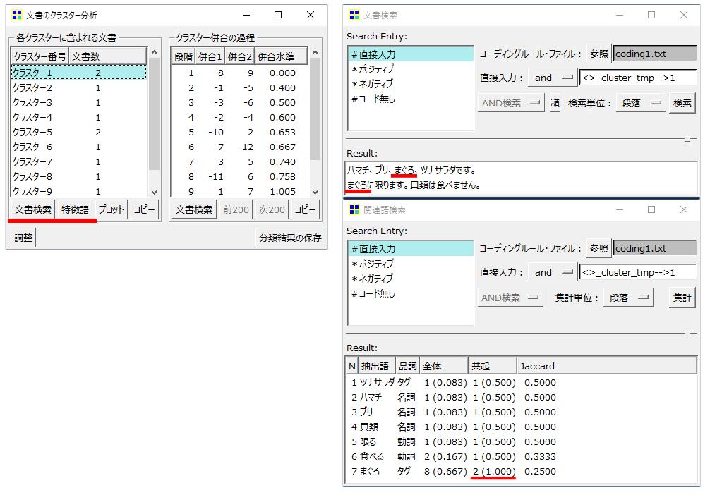 KHcoder クラスター分析(文書)結果